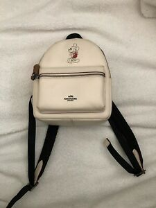 Authentic Coach - Mickey Mouse Backpack Ivory Mini