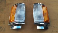 Front Corner Indicator Turn Signal Light Chrome For 83-88 Toyota Hilux LN56 2WD