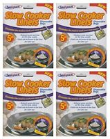 20 Sealapack Slow Cooker Liners Cooking Bags 4 x 5 Pack For Round  Oval Cookers