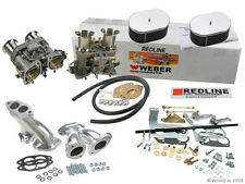 Weber Carburetor Kit VW Bug & Type 1 Dual 44 IDF - Redline Kit w/Genuine Webers