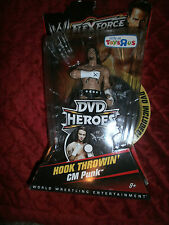 WWE FLEXFORCE HOOK THROWIN' CM PUNK & DVD  ONLY AT TOYS R US