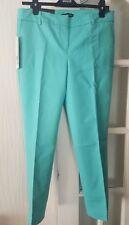 Ladies Hilary Radley Slim Mint Green Crop Short 27inch  Trousers UK Size 12