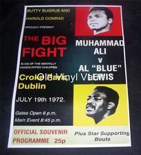 "Muhammad Ali v Al ""Blue"" Lewis repro programme cover Croke Park Dublin 1972"