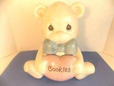 Precious Moments Teddy Bear Cookie Jar Enesco Ceramic #353418 Nib