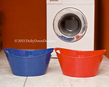 Red LAUNDRY BASKET - WASH TUB for American Girl Doll House Pet Shop Accessories