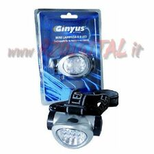 HEADLAMP GINYUS 8 LED BY HEAD TORCH AAA WHITE LIGHT HELMET PORTABLE