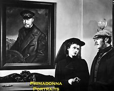 "GENE TIERNEY 8X10 Lab Photo B&W ""GHOST AND MRS. MUIR"" '47 With Painting Portrait"