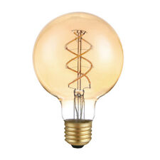 LED spirale filament rustique globe G95 5W E27 or très mince blanc chaud
