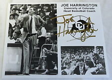 1990s press photo~ Coach JOE HARRINGTON University of Colorado Basketball SIGNED