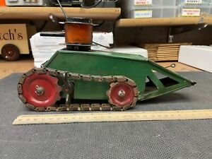 Structo Whippet Tank Clockwork 1920s pressed steel wind up toy