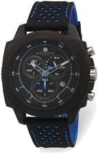 Charles Hubert Fibra de Carbono Estuche Cronómetro Correa Azul Reloj