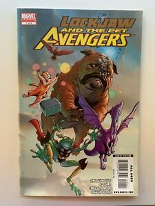 Lockjaw and the Pet Avengers #1 1st Throg Marvel Comics 2009 - Auction 5