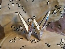 1952-1954 Willys Aero ace chrome trunk W emblem oem