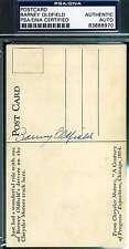 Barney Oldfield Psa/dna Signed Vintage Postcard Authentic Autograph