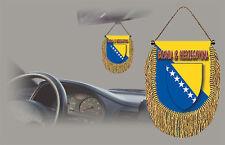 BOSNIA REAR VIEW MIRROR WORLD FLAG CAR BANNER PENNANT