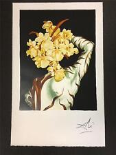 Surrealist Flower Fine Art Lithograph Salvador Dali S2