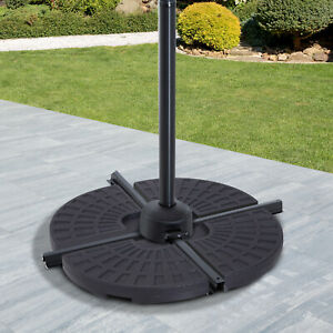 Outsunny 4PC Umbrella Base Sun Parasol Stand Holder Weight Sand Water Filled