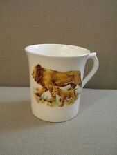 Queen's Fine Bone China Cup Lion & Cub Made in England