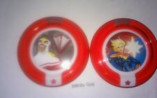 DISNEY INFINITY 2.0 POWER DISC LOT ULTIMATE FALCON & CAPTAIN MARVEL RARE In Hand