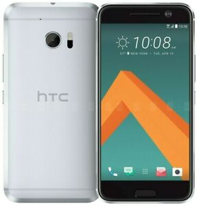 """HTC 10 32GB Glacier Silver T-Mobile Only 4G LTE 5.5"""" Android Smartphone"""