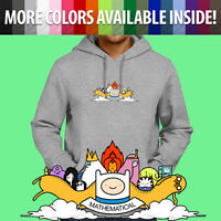 Adventure Time Cartoon Finn Jake Mathematical Pullover Sweatshirt Hoodie Sweater