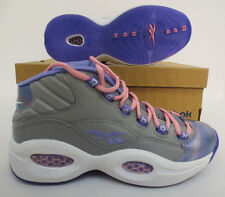 Question Mid Girls Shoes Size 6 Allen Iverson Pink v65747 Reebok Classic New Gpk