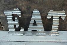 Corrugated Metal ~ EAT ~ Industrial LETTER Kitchen Cafe Diner Sign WALL DECOR