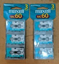 2 NEW SEALED 3 Packs Maxell MC60UR Microcassettes (6 total)  FREE SHIPPING