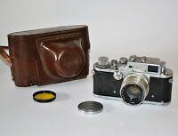 "1954 RARE RUSSIAN USSR ""ZORKI 3"" LEICA COPY CAMERA + JUPITER-8 lens, f2/50mm (2)"