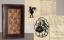 Poesie-Album mit 47 ORIGINAL SCHERENSCHNITTEN 1928-1930