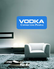 "Vodka Connecting People Wall Decal Large Vinyl Sticker 30"" x 13"""