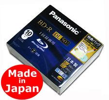 10 Panasonic Bluray BD-R DL HD Video 50GB 2X Speed Bluray Discs