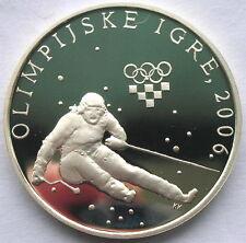 Croatia 2006 Downhill 150 Kuna Silver Coin,Proof