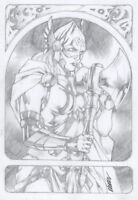 Lady Thor Original Art Sketch She Thor MCU Movie