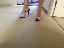 PINK LEATHER RIVER �� ISLAND HEELS SIZE 7 LADIES