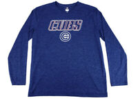 Chicago Cubs MLB Long Sleeve Graphic T-Shirt TX3 Cool Size Large L