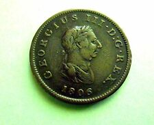 Great Britain 1/2 Penny 1806. Large size.XF