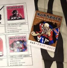 iron maiden the book of souls Vip Pass