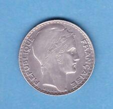 (Ref:4R11) 10 FRANCS TURIN 1937 ARGENT (TTB+)