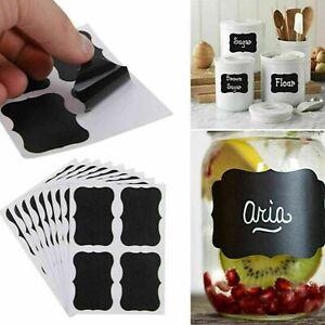 36x Chalkboard Blackboard Stickers Craft Kitchen Jar Labels Tags 50mm x 35mm AU