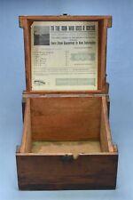 Antique ADVERTISING OVB SCYTHESTONE ASSORTMENT DISPLAY BOX HIBBARD SPENCER 05103