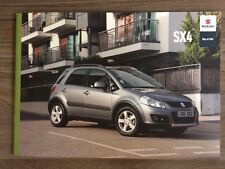 SUZUKI SX4 2011 RANGE CAR BROCHURE. SZ3 SZ4 SZ5 4WD CROSS OVER NOT FIAT SEDICI
