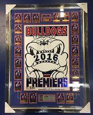 Framed 2016 Bulldogs WEG Art Foil Poster AFL Select Premier Cards
