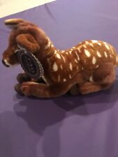 """FAO Schwarz 18"""" Plush Spotted Lying Deer Fawn Realistic New With Tags"""