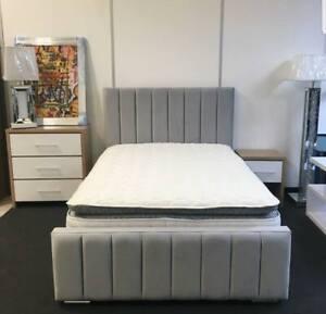 Modern Made In Plush Velvet Bed Frame | All Sizes | All Colours