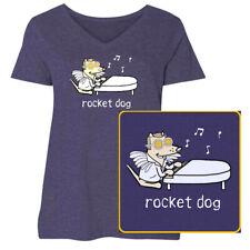 Teddy the Dog Rocket Dog Ladies T Shirt Curvy V Neck Tee Elton John Purple NWT
