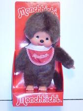 Monchhichi 255010 Classic Boy Red Bib (Junge mit rotem Latz), 20 cm, Sekiguchi
