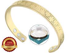 Or Cuivre Magnétique Grec Bracelet Santé Douleur Arthrite Cuff Bangle Wristband