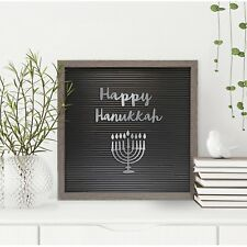 Silver Hanukkah Word Pack for Felt Letter Board 19pc Any Occasion Party Sign