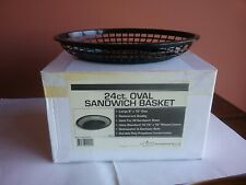 Unico 24 count Oval Sandwich Baskets 9 x 12 Black # Mgtw0912 New in Box Rare